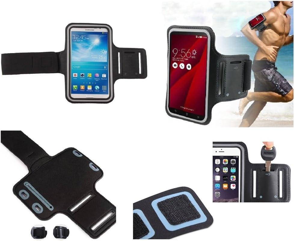 DFV mobile - Funda Brazalete Profesional de Neopreno Premium para Brazo Deporte Correr y Gimnasio para XIAOMI MI5 Gold Edition 2015201 - Negra