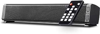 Bluetooth SoundBars 2 * 5W Portable Wired and Wireless Mini Soundbar Speakers for Home Theater Surround Sound with Remote ...