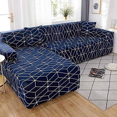 ASCV Elastische geometrische Sofabezug für Wohnzimmer Verstellbare Sofas Chaiselongue LoungeSectional Couch Ecksofa Schonbezug A19 1-Sitzer