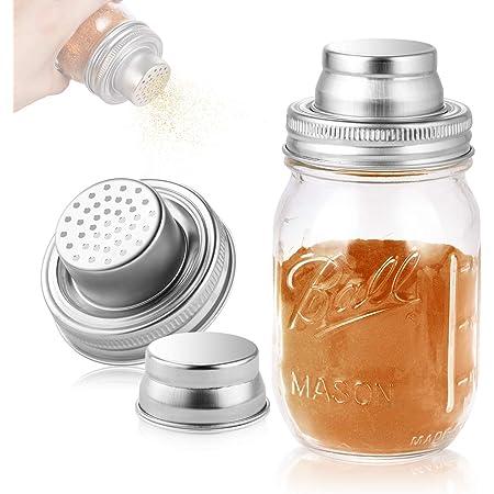 Stainless Steel Mason Jar Cocktail Shaker Lid For Regular Mouth Mason Jar