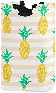 CaTaKu Panier à linge Tropical Ananas Exotique Ananas Panier à Linge Grande Boîte de Rangement Imperméable Facile à Transp...