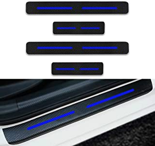 Maite 4Pcs Carbon Fiber Car Door Sill Scuff Guard Anti-kick Scratch Door Protector for JEEP Cherokee//Compass//Grand Voyager//Patriot//Renegade//Wrangler//Liberty