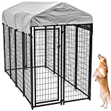 Large Dog Kennel Outdoor, Extra Large Dog Crate Metal Welded Pet Cage Heavy Duty Playpen...