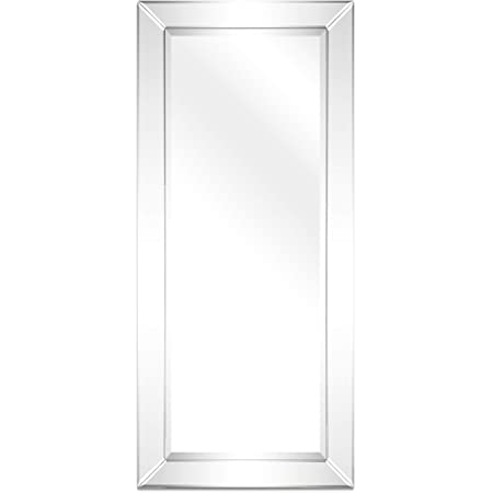 Empire Art Direct Moderno Wall Solid Wood Frame With 1 Beveled Center Rectangular Mirror For Bathroom Bedroom Living Room Ready To Hang 24 X 54 Clear Home Kitchen