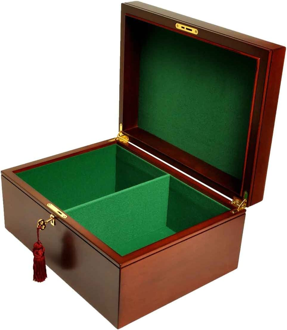 Large Mahogany Premium Chess Box - Without House by The o Logo 信託 情熱セール