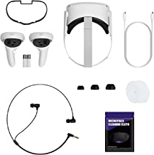 Newest Oculus Quest 2, Advanced All-in-One Virtual Reality Gaming Headset, 64GB White, Holiday Bundle with Stereo in-Ear H...