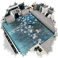 ZEMIN 廊下敷きカーペット ラグ じゅうた ノイズ減少 柔らかい リビングルーム カーペット 吸水 範囲 マット、 マルチサイズ カスタマイズ可能 (Color : A, Size : 0.8x4m)