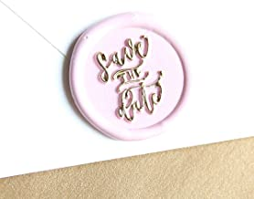 """UNIQOOO Arts & Crafts """"Save The Date"""" Signature Design Wax Seal Stamp, Handwritten Calligraphy by Shelly Kim – Perfect Decoration for Wedding Invitations, Cards, Snail Mail, Gift Wrapping"""