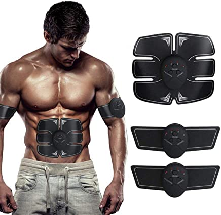 KRIYAA Ems Abdominal Muscle Exerciser Abs Stimulator Fitness Gym Abs Stickers Pad Slimming Massager