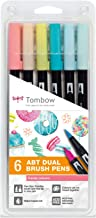 Tombow ABT-6P-4 ABT Dual Brush Pens - Candy Colours (Pack of 6)