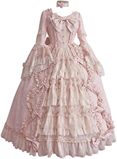 Musommer Women's Rococo Ball Gown Gothic Victorian Dress Costume Gothic Period Ball Gown Reenactment Theater Costumes