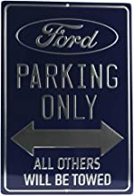Open Road Brands 90153841 Metallic Tin Sign, Ford Parking Only