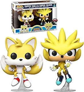 Funko Pop Sonic The Hedgehog - Super Tails & Super Silver 2 Pack (Exclusive)