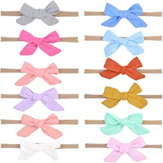 Baby Girls Nylon Headbands, IIS Chiffon Flowers Bows Newborn Infant Toddler Hairbands and Child Hair Accessories