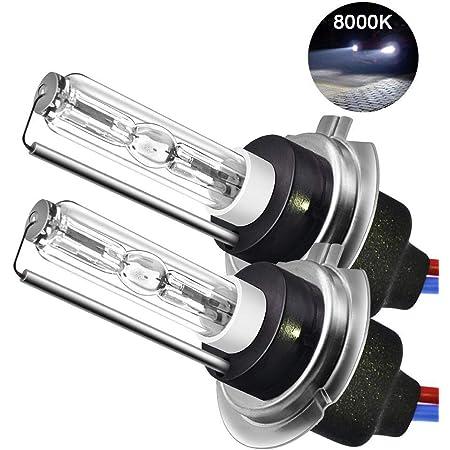 Womdee H7 Xenon Hid Kit H7 Scheinwerfer Lampe 6000k 55w H7 Auto Xenon Weiß Super Bright Car Motorcycle Lamps 2 Pack Ballast Auto