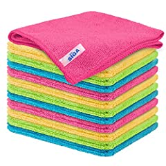 ULTRA SOFT MATERIAL & SCRATCH FREE - Ultra soft and highly absorbent microfiber cleaning cloths, cleans fine dust that cannot be seen with the naked eyes, great for cleaning windows, kitchenware, car or other delicate surfaces. ABSORBENT & LINT FREE ...
