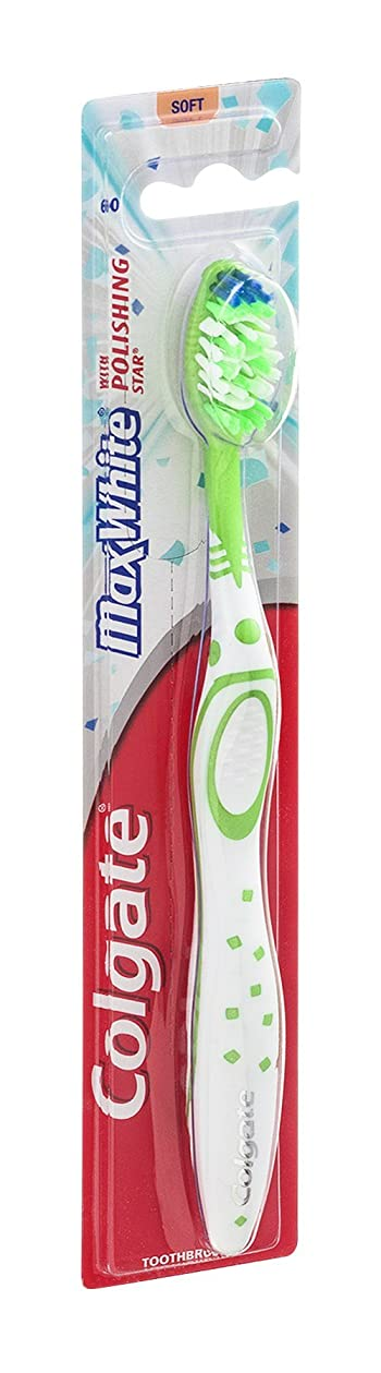 療法からに変化するピルColgate マックスホワイト全頭柔らかい歯ブラシ、18のパック