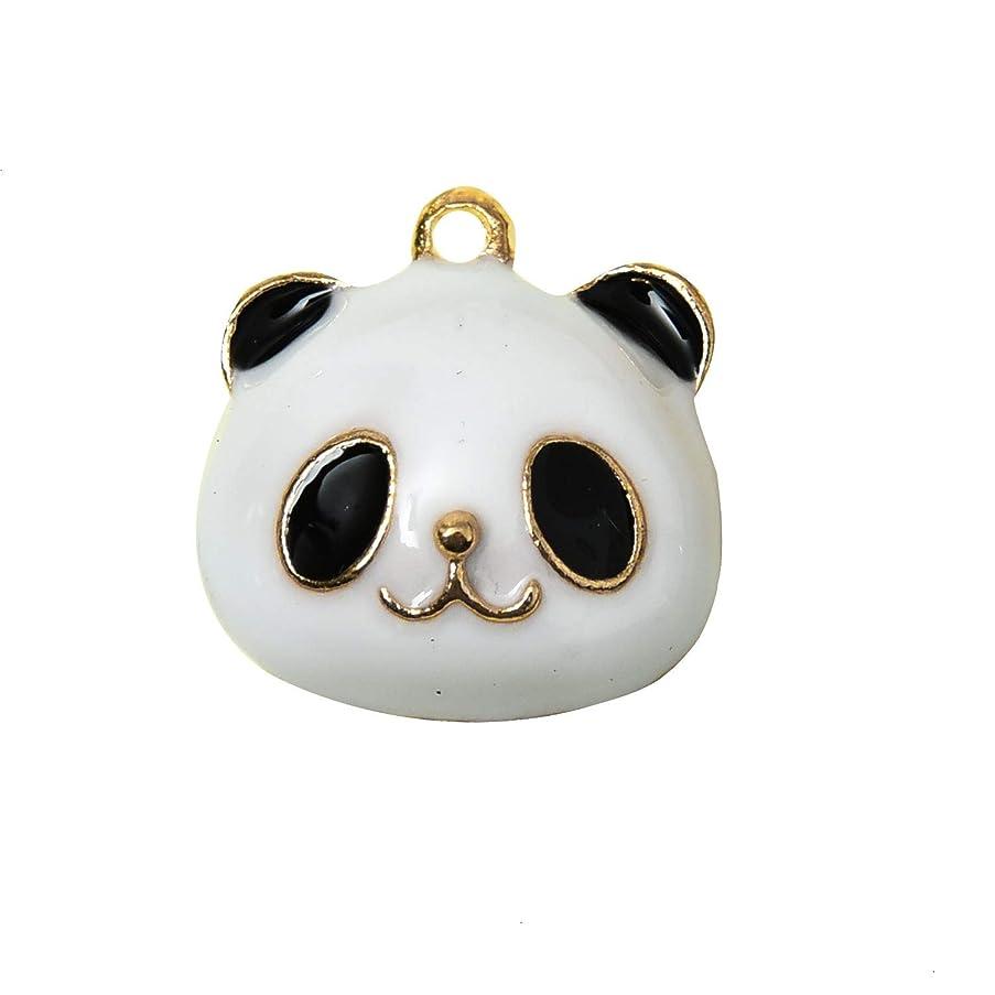 Monrocco 30pcs Enamel Panda Charm DIY Alloy Panda Charms Pendants for Jewelry Making