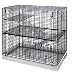 LazyBones Cage à 3 étages pour Rats furets et Chinchilla