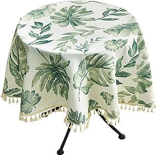Gamvdout Élégant et Simple Nordique Coton et draps Rond Table Basse Table Petite Table Ronde Nappe Maison Petit Frais de J...