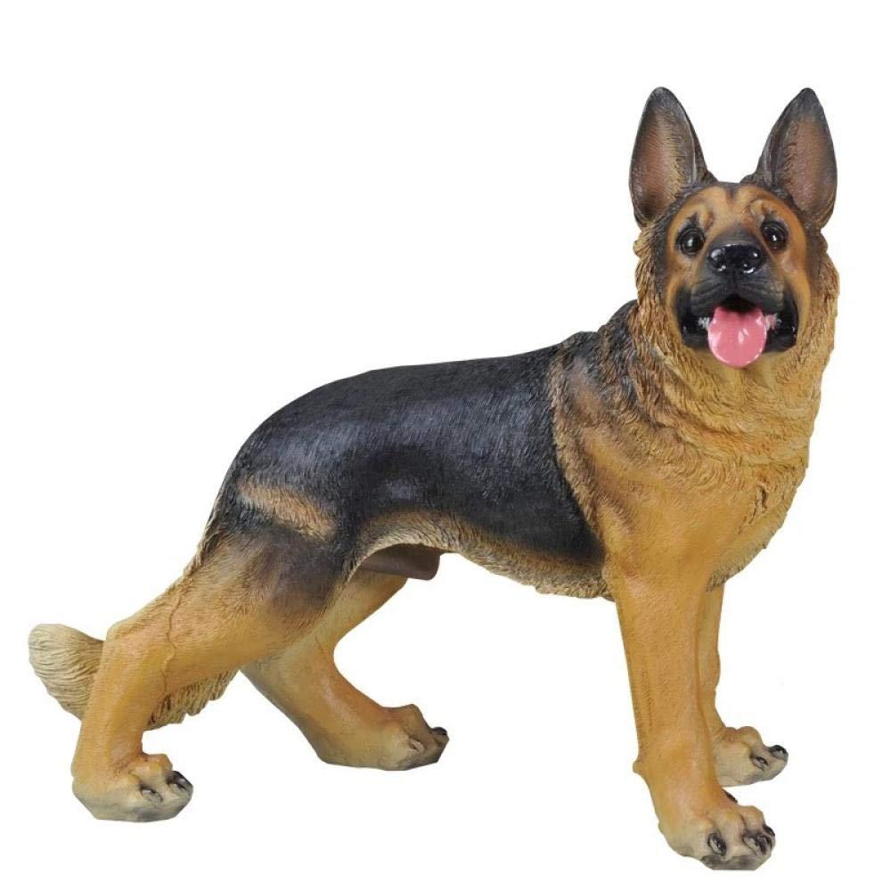 HTRN Animales para jardín Figurines para jardín Simulación Decoración de jardín al Aire Libre Resina FRP Artesanías puras a Mano Adornos Wolfhound Escultura Animal: Amazon.es: Hogar