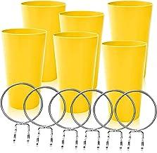 Monkeyor Set van 6 pegboard-bekers met ringen, pegboard-haken met pegboard-bekers pegboard-bekerhouder-accessoires (geel)