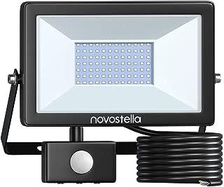 Novostella 60W Motion Sensor LED Security Light, 3030LEDs 6000lm (450W Equivalent)Super Bright Flood Lights, Dusk to Dawn Outdoor Floodlight Landscape Wall Lights for Garage Yard, 6000K Daylight White
