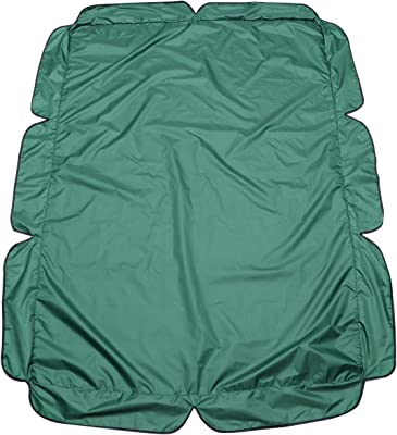 Cabilock Outdoor Swing Canopy Replacement Chair Canopy Seat Furniture Sunshade UV Block Garden Swing Cover for Patio Yard Seat - Three seat 195x125cm (Green)