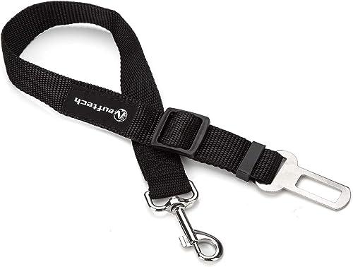 Neuftech Ajustable Cinturones de Seguridad Perros de Mascotas para Coche - Negro