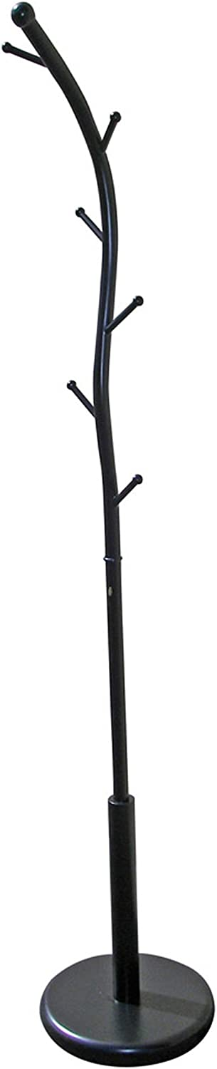 Ore International R672BK Six Foot Black Metal Coat Rack