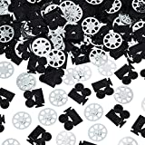 Gejoy 1500 Pieces Camera Confetti Film Reel Confetti for Hollywood Party Table Decoration Wedding Birthday Baby Shower Party Supply