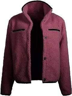 Women's Winter Jacket Thermal Long Sleeve Outwear Coat Short Button Outercoat Cardigan