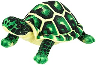 Wildlife Tree 10.5 Inch Small Green Turtle Stuffed Animal Plush Floppy Zoo Reptile & Amphibian Collection