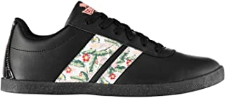 Lonsdale Womens Ladies Temple Fashion Trainers Sneakers Low Shoes Floral Panels
