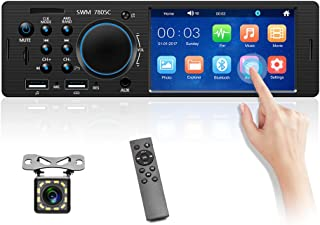 """4.1"""" Single Din Car Stereo with Bluetooth Autoradio Touchscreen 1 Din Car Multimedia Player Auto Stereo MP5 AUX USB TF FM ... photo"""