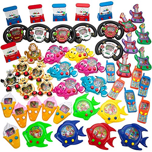 Kicko Water Game Assortment - 48 pc toss Ring Water Game – Bubble Ring Water Game – Traditional Water Game – Party Favors for Boys and Girls
