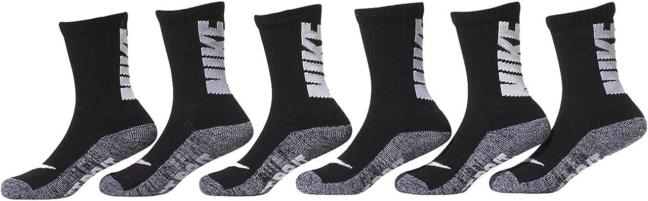 Nike Boy`s Just Do It Cushioned Crew Socks 6 Pack