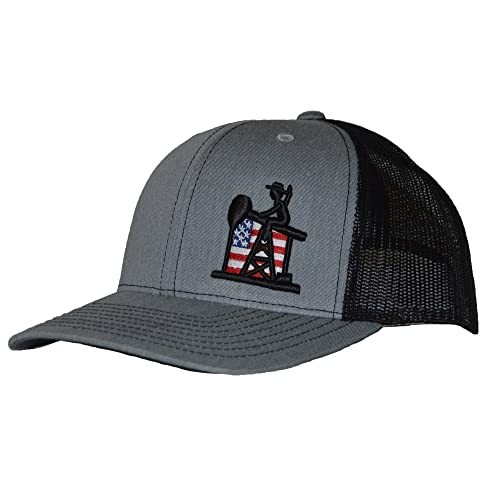 timeless design 25864 f09af Pumpjack Cowboy The Patriot, Trucker Style Hat, OSHA