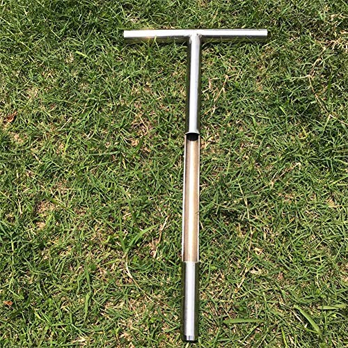 Best Buy! 20 Inch Golf Soil Sampler Probe, Stainless Steel T-Style Handle Soil Test Kits (Silver)