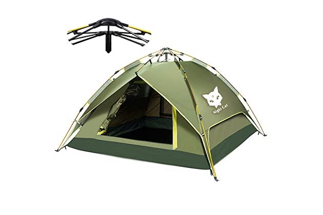 Night Cat Camping Tent 2 3 4 Person Easy Instant Pop Up Tent Automatic  Hydraulic Double Layer 37671d5da8bb