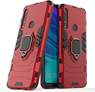 Case for Huawei Y9 Prime 2019 DWaybox Ring Holder Iron Man Design 2 in 1 Hybrid Heavy Duty Armor Hard Back Case Cover Compatible with Huawei Y9 Prime 2019/P Smart Z/Enjoy 10 Plus 6.59 Inch (Red)