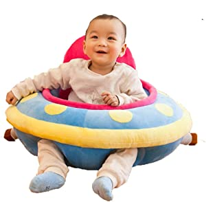 Baby Support Soft Chair Infant Sitting Chair Baby Support Seat Sofa Learning Sit Chair Cushion Sofa Nursing Singing and Lighting Plush Pillow Toys Safe Dining Chair