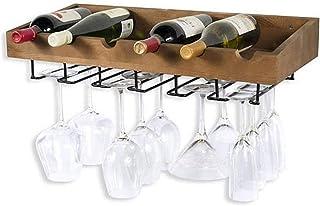 XHCP Organisation de Rangement de Cuisine Support Mural Vintage pour casier à vin en métal pour 5 Bouteilles Debout Libre...