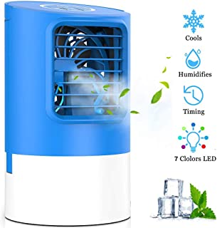 Air Cooler,Arctic Portable Air Conditioner Ice Fan with 3 Wind Speeds,USB Small Table Evaporative Ultra-Quiet Air Humidifier Purifier Cooling Fan with Handle for Home, Office, Outdoor(New 2019)