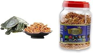 JackSuper 3000ml Aquatic Turtle Food,101.44 oz, Floating Shrimp Krill Freeze Dried for Reptile Aquarium Pond Fish Koi Cichlid Feed