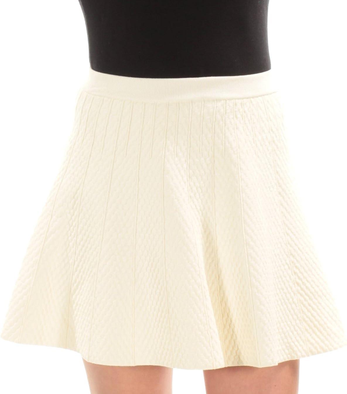Rachel Roy $99 Womens New 1069 Ivory Textured Above The Knee A-Line Skirt XS B+B