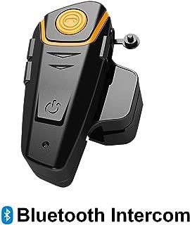 Baile Helmet Communication Systems, Motorcycle Helmet Bluetooth Headset Intercom for Riders, Handsfree/Range-800M/2-3Riders Pairing