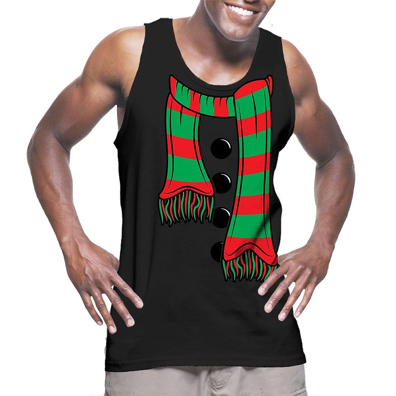 メンズクリスマススカーフタンクトップTシャツ