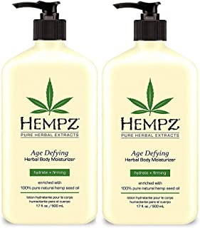 Hempz Age Defying Herbal Body Moisturizer 17 oz 2-Pack