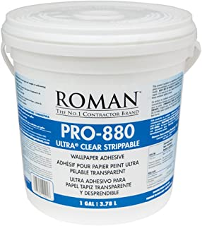 Roman 012401 PRO-880 Ultra Clear Adhesive, 1 gal, White